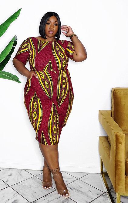Diyanu African Print Dress XXL