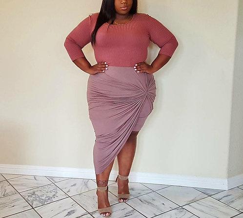 Charlotte Russe Asymmetrical Skirt 3X