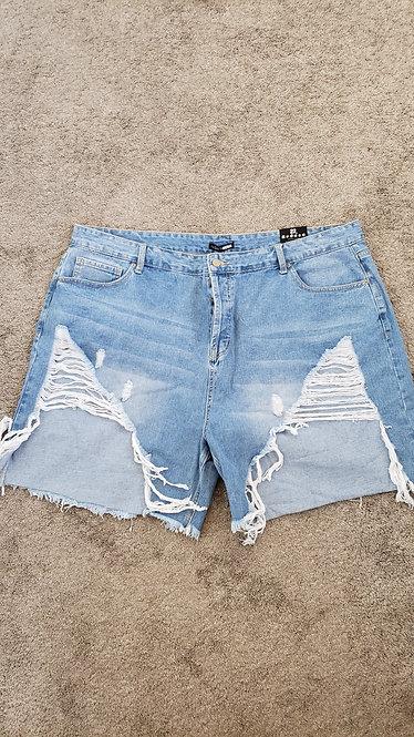 Fashion Nova High-Low Distressed Shorts 22