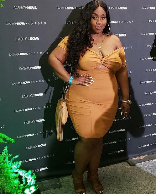 Fashion Nova Cut-Out Dress 2X