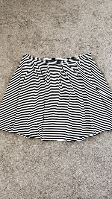 Ashley Stewart Striped Skater Skirt
