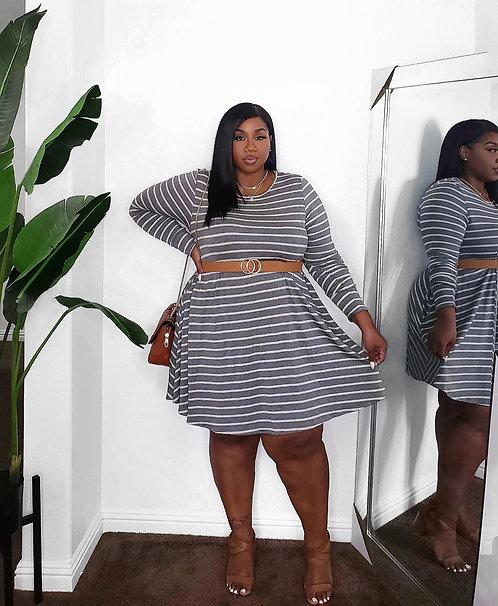 Gray Slay Dress