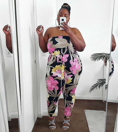 Fashion Nova Floral Jumpsuit 2X