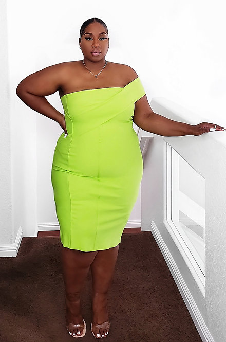 Rebdolls Neon Bandage Dress