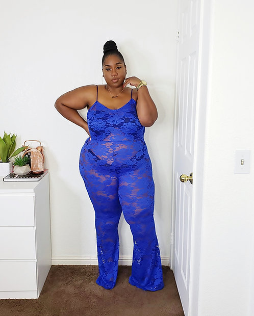 Nip Blue Lace Jumpsuit