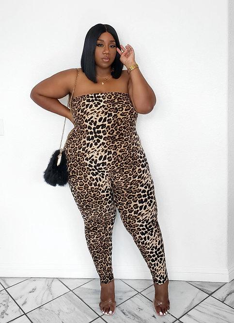 Fashion Nova Leopard Jumpsuit 2X