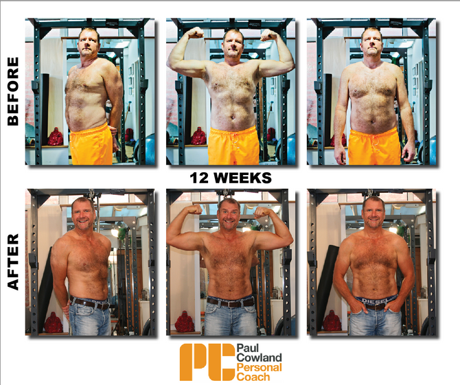 Client focus: Andre lost 12kg  in 12 weeks