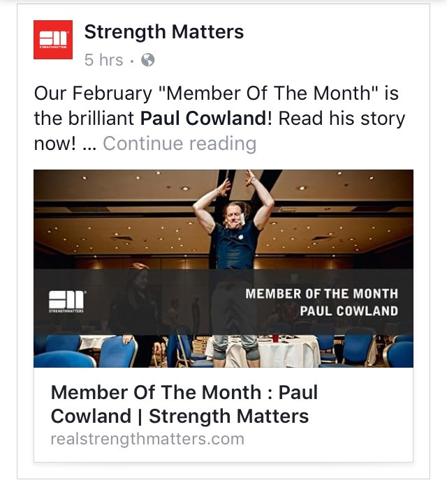Strength Matters Member of the month