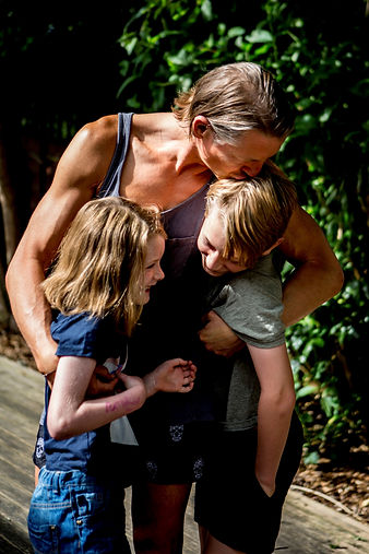 Personal trainer Paul Cowland located in Brighton and Hove with his children