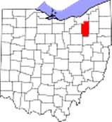 Summit County, Ohio in red