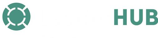 LeaderHUB ACTIVE logo with icon on black
