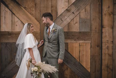 Grange Barn Bride and Groom