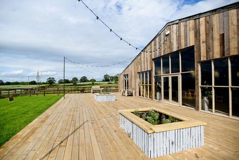 Grange Barn Outdoor decking