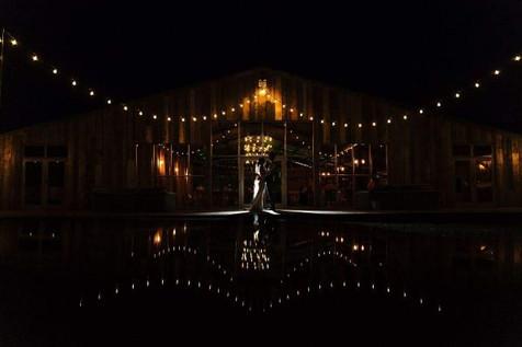 Grange Barn Night Time