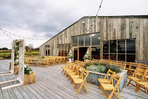 Grange Barn Outdoor Ceremony