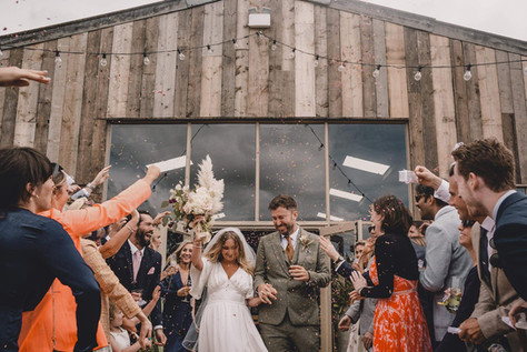 Grange Barn Confetti on Decking