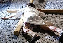 Passione di Cristo ad Ivrea - seconda caduta