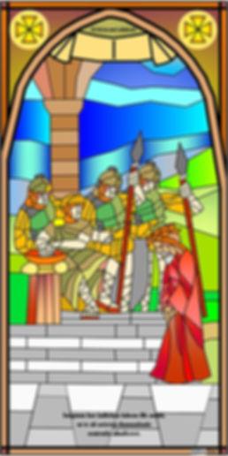 IVREA - Passione di Cristo - Vetrata Ragazzi ITIS