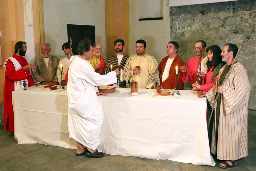 Cenacolo ad Ivrea,  quadro vivente dell' utlima Cena, Passione di Cristo IVREA, Gian Martino Spanzotti