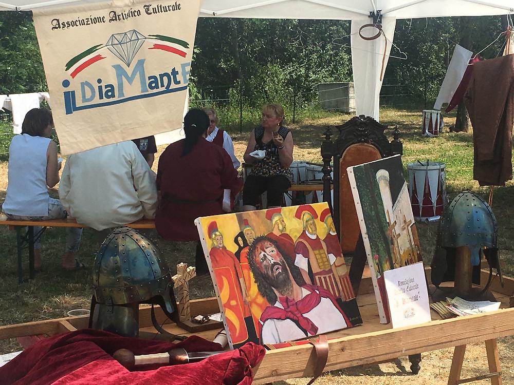 Dipinto della Passione di Cristo di Ivrea esposto al parco Dora alla Festa e Fiera di San Savino