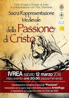 Locandina della Passione di Cristo - Sacra Rappresentazione - Passione di Cristo nella Città dell' UNESCO