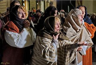 le pie donne piangono il Cristo passione di Ivrea
