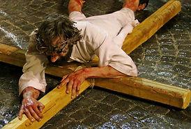 la seconda caduta del cristo - Passione di Ivrea