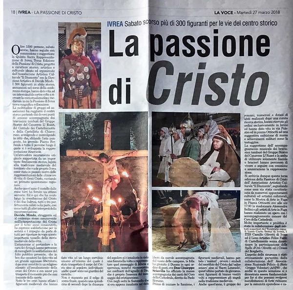 La Passione di Cristo - La Voce del Canavese di Ivrea - Il Diamante - Passione di Ivrea