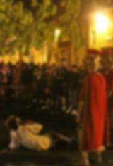 Passione di Cristo IVREA - la terza caduta poco prima della crocefissione conte verde castello