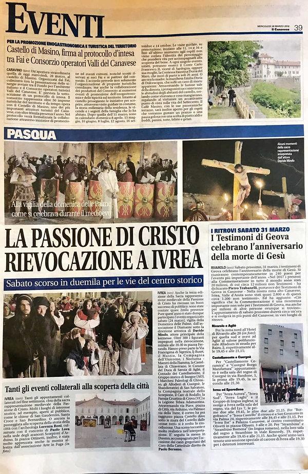 La Passione di Cristo - Il Canavese di Ivrea - Il Diamante - Passione di Ivrea