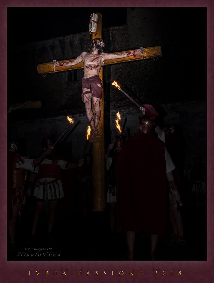 Passione di Cristo Ivrea 2018 - UNESCO - Nicola Frau (Cristo sulla Croce)