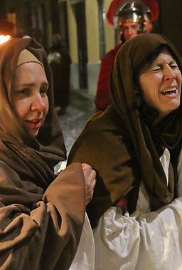 il pianto delle donne nella Passione di Cristo