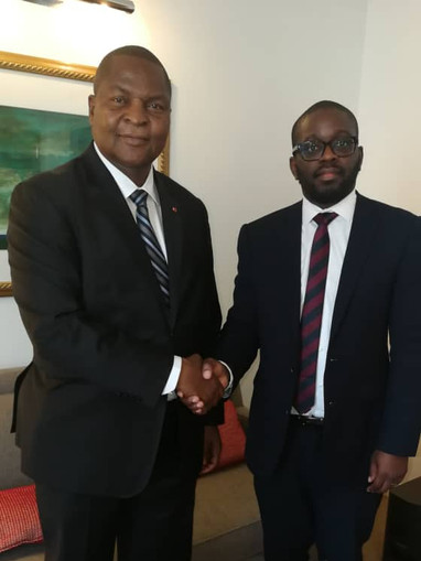 Central African Republic President Touadera and Thierry Dongala