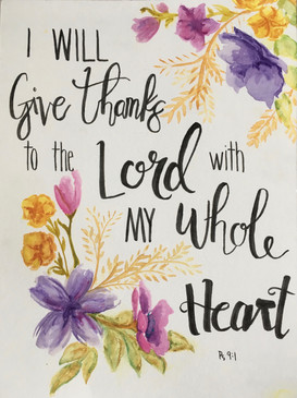 Give Thanks | Psalm 9