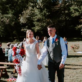 bride and groom i do