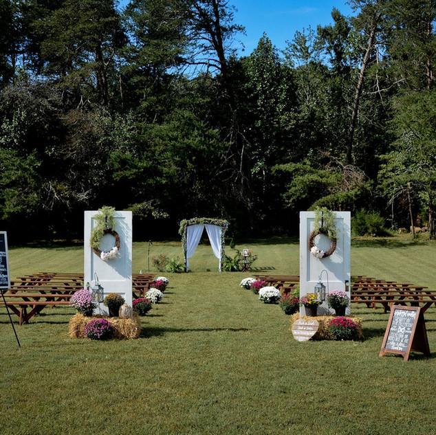 White Ceremony Doors