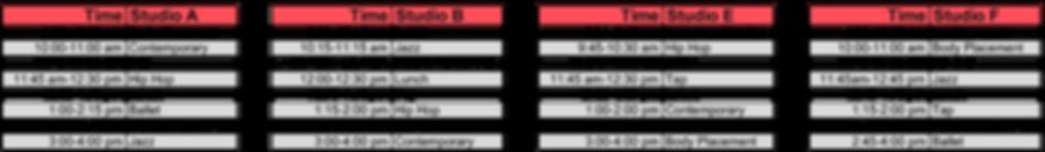 Company Camp SChedule 1