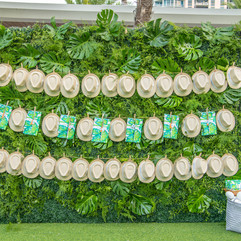plant wall fedora hat branded branding p