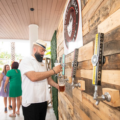 IRF beer tap wall concrete beach pallet