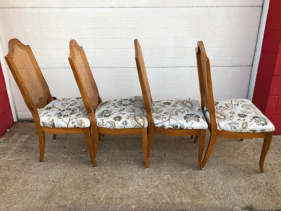 4 Cane-back Dining Chairs