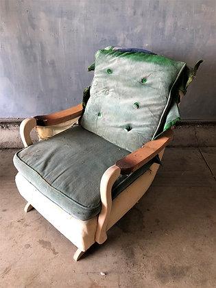 1950's Pillow-back Platform Rocker