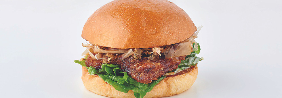 Katsu Okonomiyaki Burger