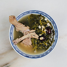 Herbal Chicken & Watercress Soup