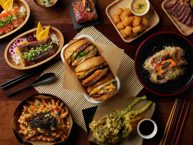 Lifestyle - Assorted Food : Wooden table