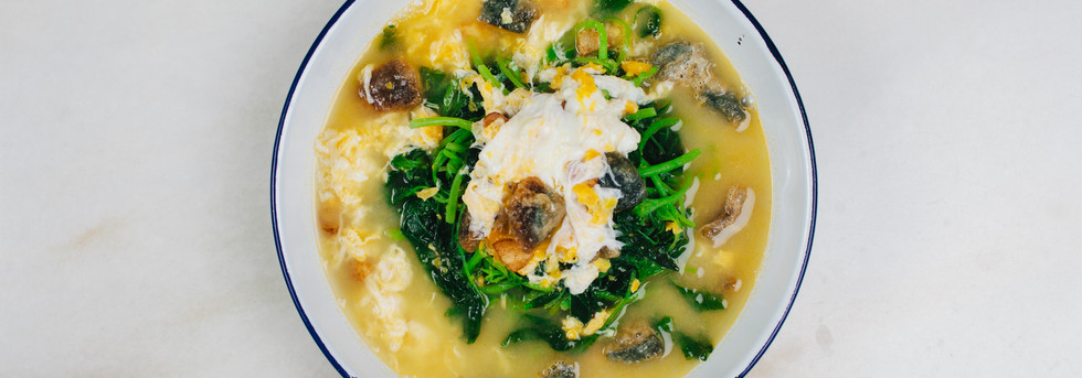 Braised 3 Egg Spinach