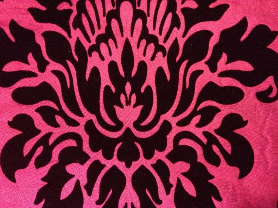Pink & Black Damask