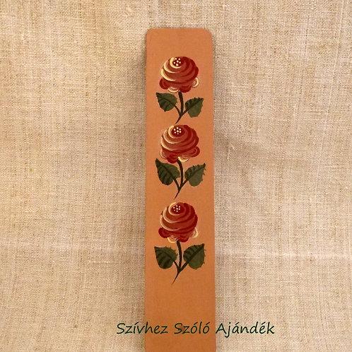 Könyvjelző rózsákkal