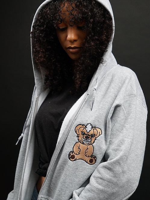 Raging Bear Zip Up Hoodie