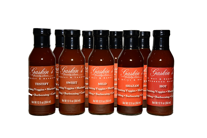 Gaskin's BBQ Sauce 9 Pack