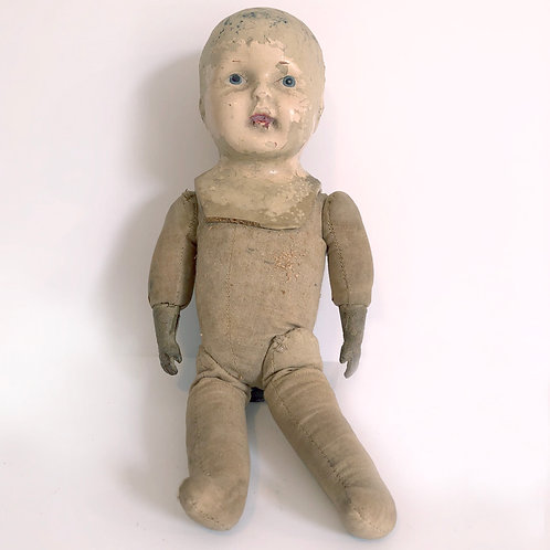 Sawdust Doll with Ceramic Head